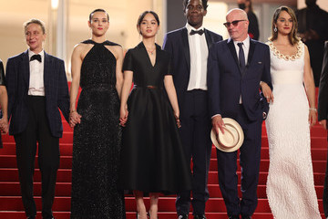 """Noemie Merlant Makita Samba """"Les Olympiades (Paris 13th District)"""" Red Carpet - The 74th Annual Cannes Film Festival"""