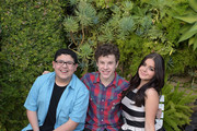 Rico Rodriguez, Nolan Gould and Ariel Winter attend his 16th birthday party held at Smogshoppe on October 26, 2014 in Los Angeles, California.