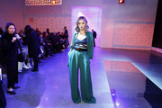 Jamie Chung attends the Noon By Noor Front Row during New York Fashion Week: The Shows at Gallery II at Spring Studios on February 11, 2020 in New York City.