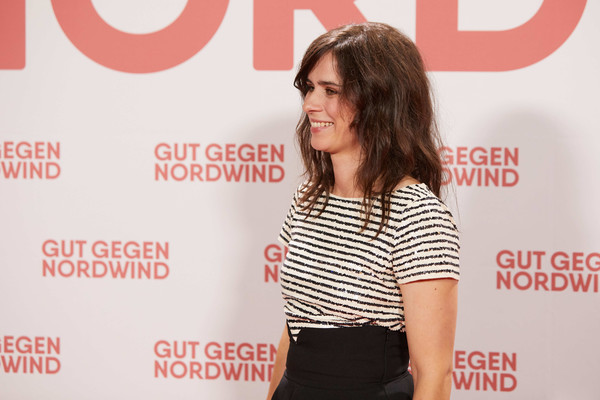 'Gut Gegen Nordwind' Family And Friends Preview In Berlin [fashion,premiere,font,long hair,media,magazine,carpet,flooring,style,nora tschirner,gut gegen nordwind,family friends preview,attends,germany,berlin,family friends preview at kulturbrauerei]
