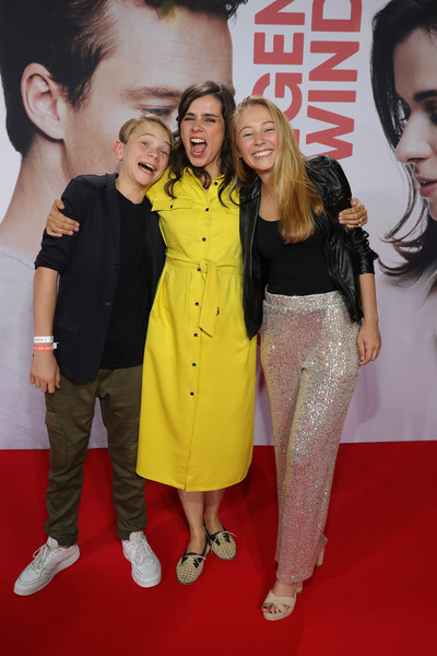 'Gut Gegen Nordwind' Premiere In Cologne [the world premiere of the movie,premiere,red carpet,carpet,event,flooring,yoran leicher,nora tschirner,katharina gieron,gut gegen nordwind,germany,cinedom,l-r,cologne,premiere]