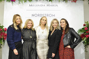 (L-R) Andrea Lublin, Allison Statter, Melinda Spige, Sarah Michelle Gellar and Brett Smith attend the Launch of New ICONS Collection hosted by Nordstrom Century City and Melinda Maria Jewelry at Nordstrom Century City on December 05, 2019 in Los Angeles, California.