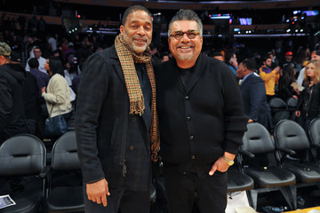 Norm Nixon Celebrities Visit the Los Angeles Lakers Game