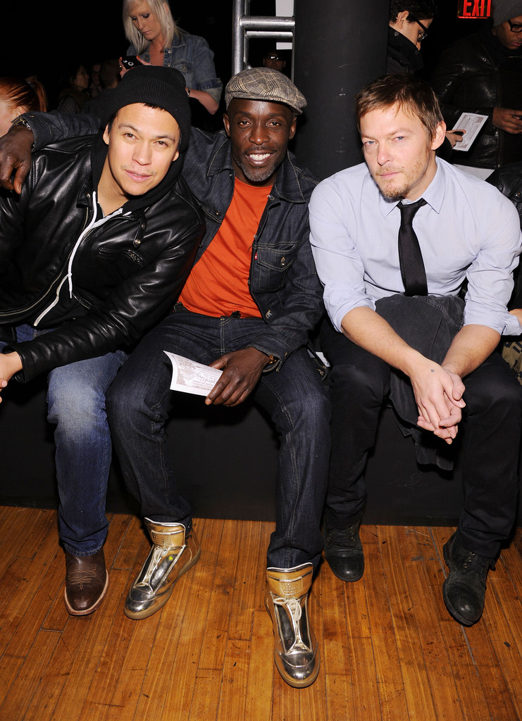 Norman Reedus Girlfriend http://www.zimbio.com/photos/Norman+Reedus/Levi+Fall+2012+Global+Collection+Presentation/khtUHNMpt1Z
