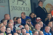 Prince George of Cambridge,  Prince William, Duke of Cambridge and Catherine, Duchess of Cambridge are seen in the stands during the Premier League match between Norwich City and Aston Villa at Carrow Road on October 05, 2019 in Norwich, United Kingdom.