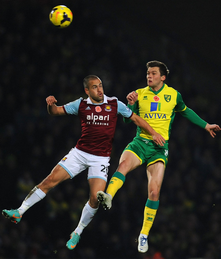 Jonny Howson In Norwich City V West Ham United