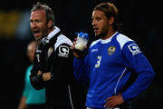 Shaun Derry, manager of Notts County and Alan Smith look on during the Pre Season Friendly match between Notts County and CA Osasuna at Meadow Lane on August 1, 2014 in Nottingham, England.