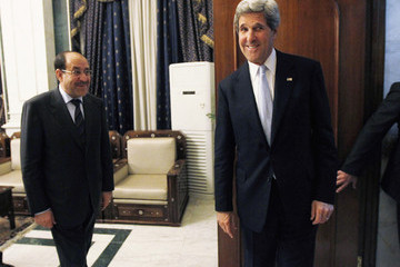Nouri al-Maliki U.S. Secretary of State John Kerry Makes Surprise Visit