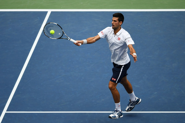 Novak Djokovic Overcomes An Inconsistent Gael Monfils At The US Open