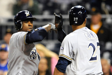 Nyjer Morgan Milwaukee Brewers v Pittsburgh Pirates