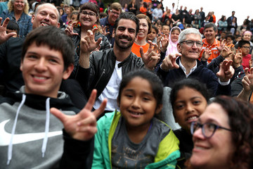 Nyle DiMarco Apple CEO Tim Cook Visits California School For The Deaf In Fremont, California