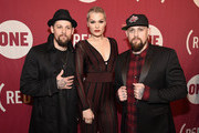 """(L-R) Joel Madden, Jessie J, and Benji Madden attend the ONE Campaign and (RED)'s """"It Always Seems Impossible Until It Is Done"""" 10th anniversary celebration at Carnegie Hall on December 1, 2015 in New York City."""