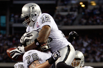 Robert Gallery Darrius Heyward-Bey Oakland Raiders v Dallas Cowboys