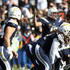 Philip Rivers Photos - Philip Rivers #17 of the Los Angeles Chargers communicates to his teammates during the first half of the game against the Oakland Raiders at StubHub Center on December 31, 2017 in Carson, California. - Oakland Raiders vLos Angeles Chargers
