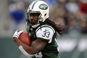 Chris Ivory #33 of the New York Jets carries the ball during the second quarter against the Oakland Raiders at MetLife Stadium on December 8, 2013 in East Rutherford, New Jersey.