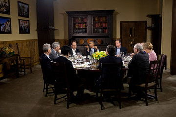 Yoshihiko Noda Obama Attends G8 Summit At Camp David