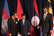 (AFP OUT) President Barack Obama (R) attends a working luncheon with ASEAN leaders President of Laos Choummaly Sayasone (L) and President of Vietnam Nguyen Minh Triet (C) September 24, 2010 in New York City. Obama has been in New York since Wednesday attending the annual General Assembly at the United Nations, where yesterday he stressed the need for a resolution between Israel and Palestine, and a renewed international effort to keep Iran from attaining nuclear weapons.