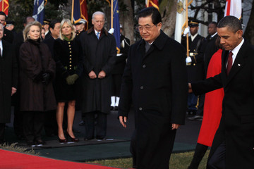 Hillary Clinton Robert Gates Obama Hosts Chinese President Hu Jintao For State Visit At White House