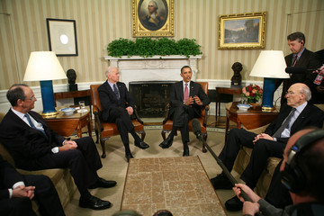Alan Simpson Obama Meets With Commission On Fiscal Responsibility