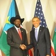 Barack Obama Salva Kiir Mayardit Photos