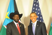 Barack Obama Salva Kiir Mayardit Photos Photo