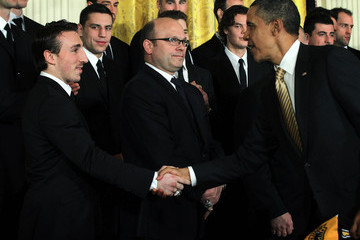 Peter Chiarelli Obama Welcomes NHL Champion Boston Bruins To The White House