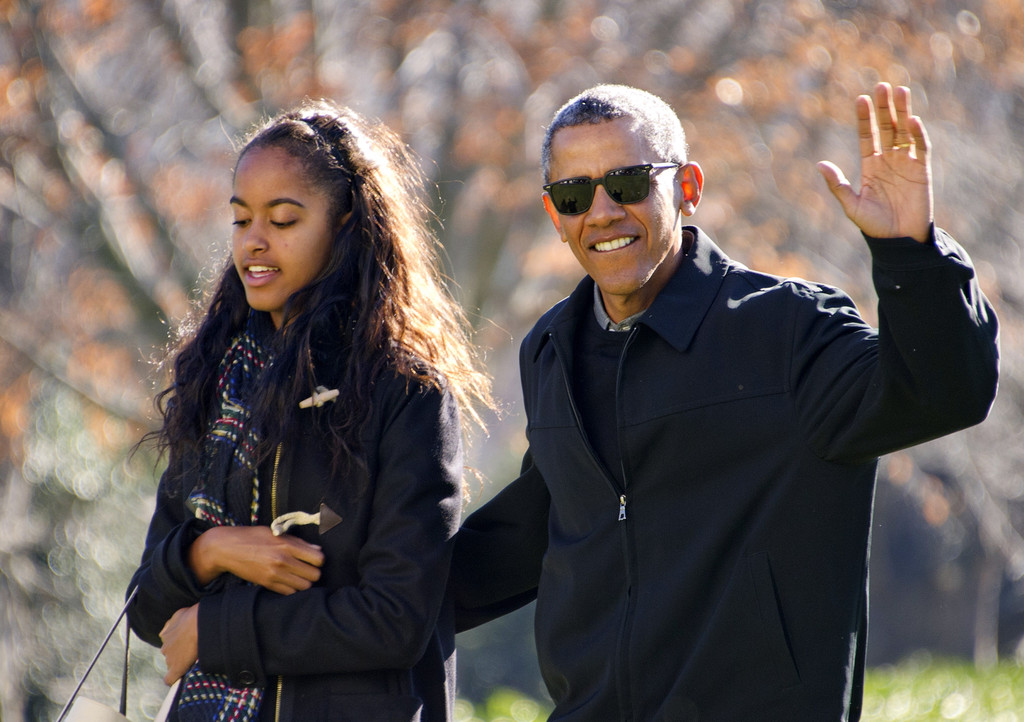 malia obama in the obamas return from hawaii vacation zimbio