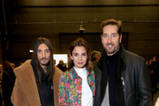 Julian Daynov, Nadine Warmuth and Joerg Oppermann attend the Odeeh Defile during the Berlin Fashion Week Autumn/Winter 2019 at Haus Der Berliner Festspiele on January 14, 2019 in Berlin, Germany.