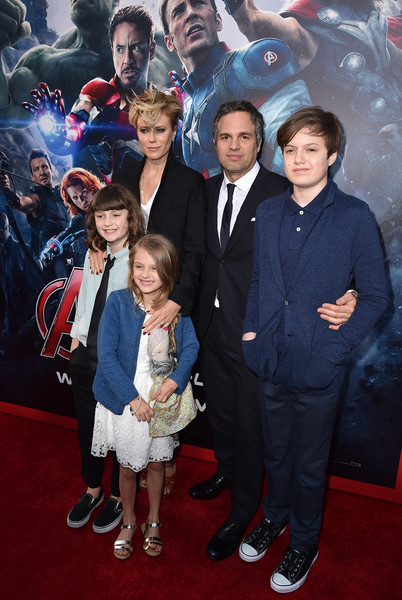 Premiere Of Marvel's 'Avengers: Age Of Ultron' - Red Carpet [avengers: age of ultron,red carpet,people,premiere,red carpet,event,carpet,flooring,suit,fictional character,child,family,mark ruffalo,keen ruffalo,odette ruffalo,sunrise coigney,bottom l-r,top l-r,marvel,premiere]