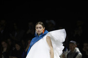 (EDITORIAL USE ONLY) US model Gigi Hadid walks the runway during the Off-White show as part of the Paris Fashion Week Womenswear Fall/Winter 2020/2021 on February 27, 2020 in Paris, France.