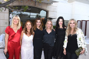 Sophie Allouche, Karine Ohana, Jo Champa, Susan Rockefeller, Linda Collins and Anastasia Soare attend Ohana & Co LA Event - Brands With Mission at The Peninsula Beverly Hills on August 23, 2018 in Beverly Hills, California.