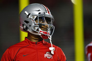 Braxton Miller #1 of the Ohio State Buckeyes during warmups before a game against the Rutgers Scarlet Knights at High Point Solutions Stadium on October 24, 2015 in Piscataway, New Jersey.