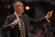 Head coach Billy Donovan of the Oklahoma City Thunder gives instructions to his team against the Chicago Bulls at the United Center on January 9, 2017 in Chicago, Illinois. The Thunder defeated the Bulls 109-94. NOTE TO USER: User expressly acknowledges and agrees that, by downloading and/or using this photograph, user is consenting to the terms and conditions of the Getty Images License Agreement.