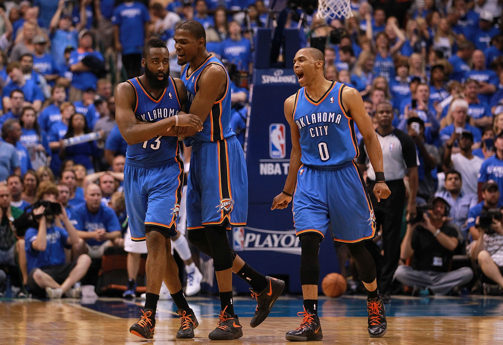 Russell Westbrook And James Harden Photos Photos