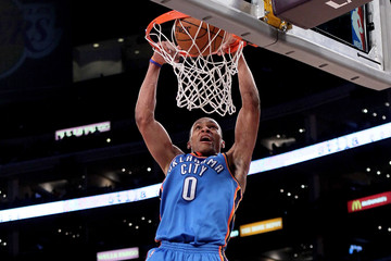 Russell Westbrook Oklahoma City Thunder v Los Angeles Lakers, Game 2