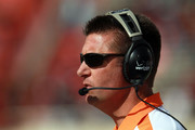 Head coach Mike Gundy of the Oklahoma State Cowboys at Jones AT&T Stadium on November 12, 2011 in Lubbock, Texas.