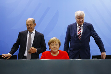 Olaf Scholz Horst Seehofer Government Holds Housing Summit