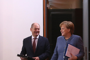 Olaf Scholz Weekly Government Cabinet Meeting