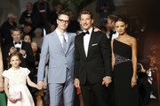 """(L-R) Nicolas Winding Refn, Miles Teller and his girlfriend Keleigh Sperry attend the screening of """"Too Old To Die Young"""" during the 72nd annual Cannes Film Festival on May 17, 2019 in Cannes, France."""