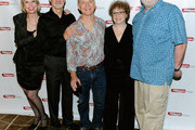 "Actors Julie Halston, David Garrison, Dan Butler, Marcia Jean Kurtz and Richard Masur pose for a photo at the after party for the opening night of ""Olive and the Bitter Herbs"" at 48 Lounge on August 16, 2011 in New York City."