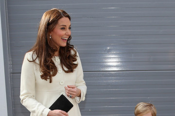 Oliver Barker Kate Middleton Visits the 'Downton Abbey' Set