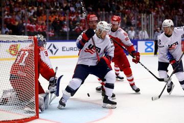 Oliver Bjorkstrand Denmark vs. United States - 2018 IIHF Ice Hockey World Championship