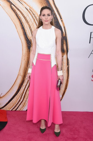 2016 CFDA Fashion Awards - Arrivals [red carpet,clothing,dress,carpet,pink,flooring,shoulder,premiere,fashion,hairstyle,arrivals,olivia palermo,hammerstein ballroom,new york city,cfda fashion awards]