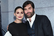 Olivia Palermo and Michael Atmore pose at the Olivia Palermo Collection presentation during New York Fashion Week: The Shows on February 12, 2020 in New York City.