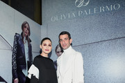 Olivia Palermo and Edward Barsamian pose at the Olivia Palermo Collection presentation during New York Fashion Week: The Shows on February 12, 2020 in New York City.
