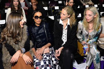 Olivia Palermo Poppy Delevingne Noon By Noor - Front Row - Fall 2013 Mercedes-Benz Fashion Week