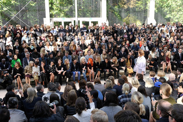 Olivia Palermo Poppy Delevingne LFW: Front Row at Burberry Prorsum