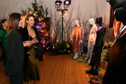 (L-R) Torrey DeVitto and Arielle Kebbel, wearing Olivia von Halle, attend the Olivia von Halle x Disney Maleficent: Mistress of Evil event at The High Line Hotel on October 16, 2019 in New York City.