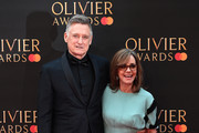 Bill Pullman and Sally Field attend The Olivier Awards 2019 with MasterCard at the Royal Albert Hall on April 07, 2019 in London, England.