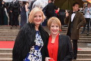 Marianne Elliott (L) and Patti LuPone attend The Olivier Awards with Mastercard at Royal Albert Hall on April 8, 2018 in London, England.
